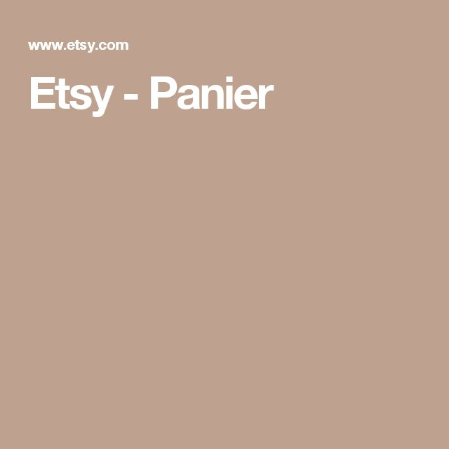 Etsy - Panier