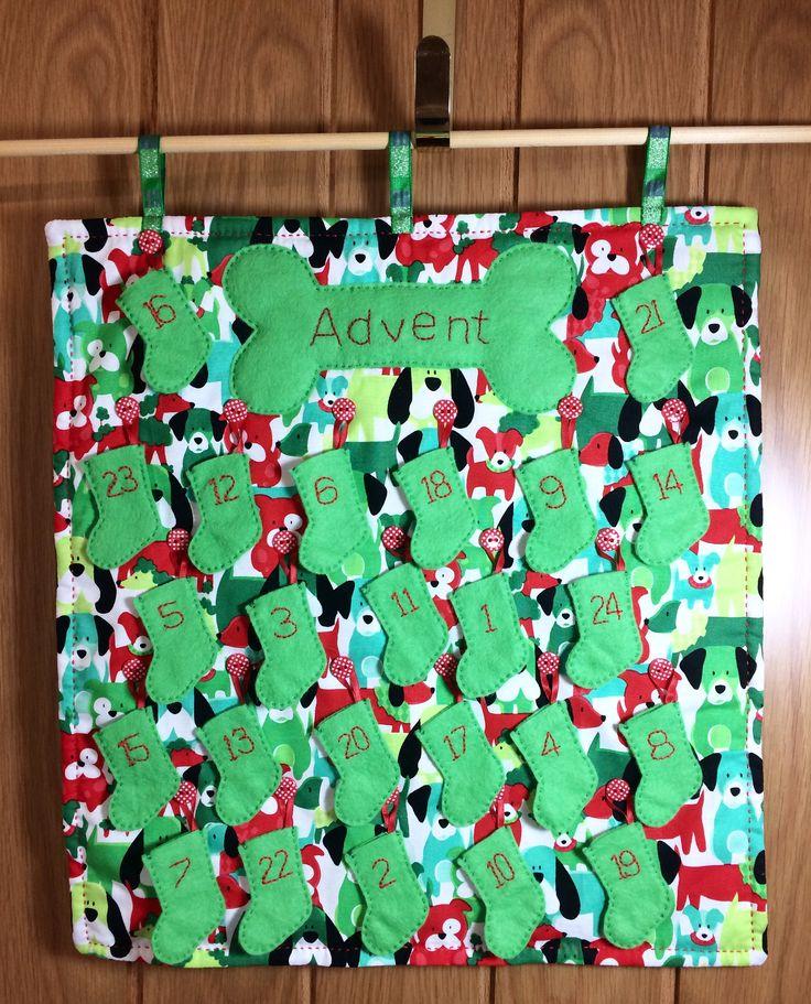 Dog Advent Calendar, Pet Advent Calendar, Fabric Advent Calendar