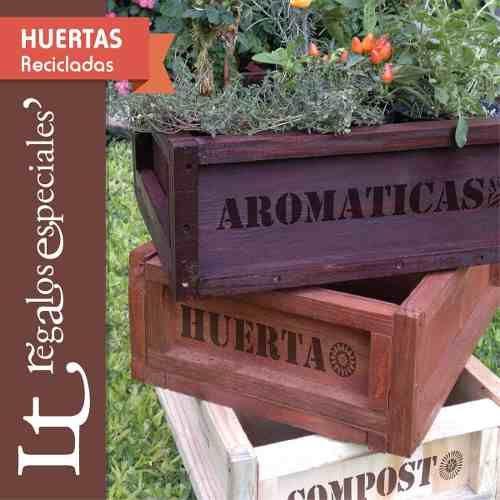 Cajones para huerta y porta macetas de madera reciclada - Macetas de madera ...