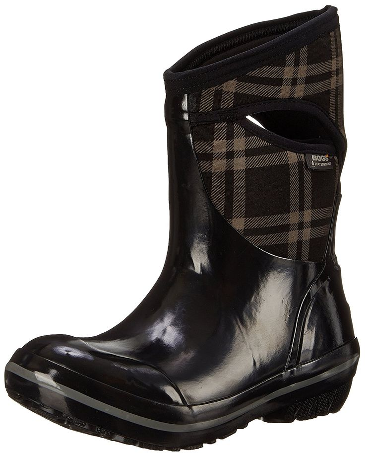Bogs Women's Plimsoll Plaid Mid Winter Snow Boot ** Awesome boots. Click the image : Boots