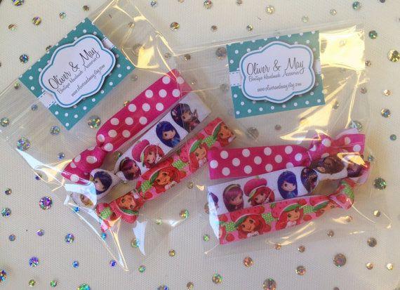 15 x 3 PACKS Strawberry Shortcake Birthday Emi Jay & Anthropologie Like Yoga Elastic Hair ... AU $30