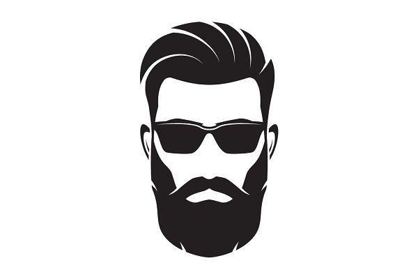Bearded Men Face Hipster Character Vector Illustration Beard Logo Beard Art Beard Illustration