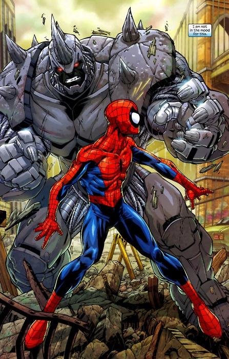 black spiderman vs rhino - photo #39