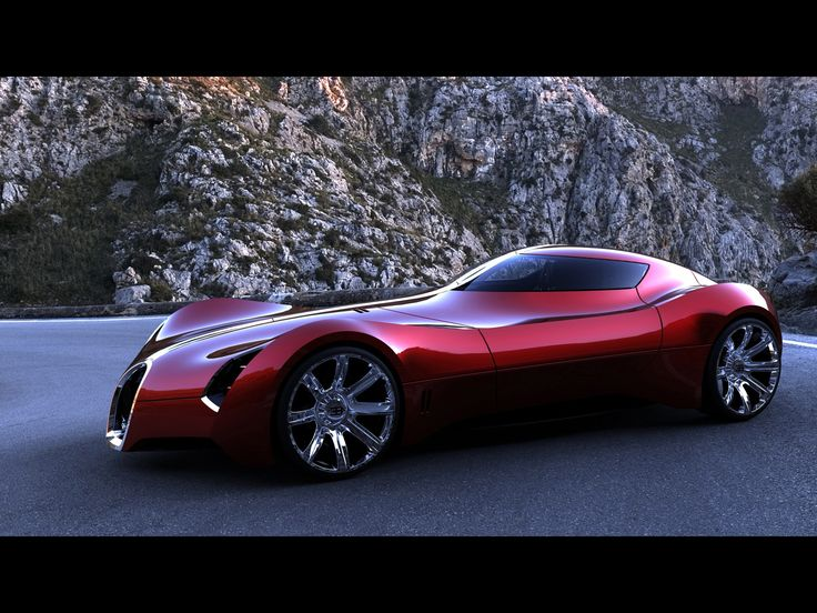 2025 bugatti aerolithe concept design by douglas hogg - red side angle - 1920x1440