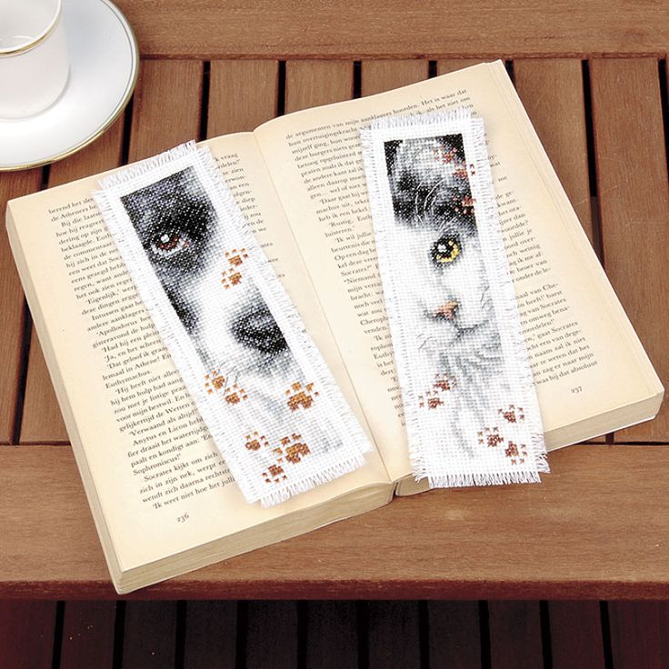 Dog and Cat Bookmarks Counted Cross Stitch Kit - Cross Stitch, Needlepoint, Embroidery Kits – Tools and Supplies