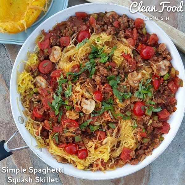 Have you tried Spaghetti Squash yet? Don't let it intimidate---it's way simpler than it may seem. This was really delicious tonight! Serves 4 For the spaghetti squash Prep: Cut a medium spaghetti squash in half, scoop out... #healthyspaghettisquashrecipes #howtomakespaghettisquash #spaghettisquash