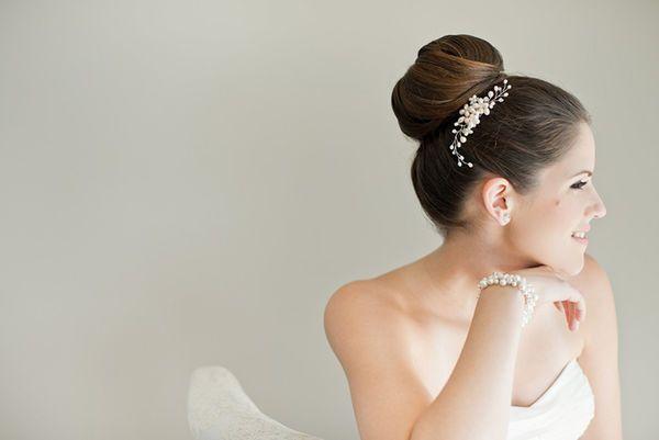 Penteado para noiva: coque alto