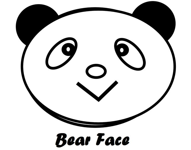 Bear face coloring pages for Bear head coloring page