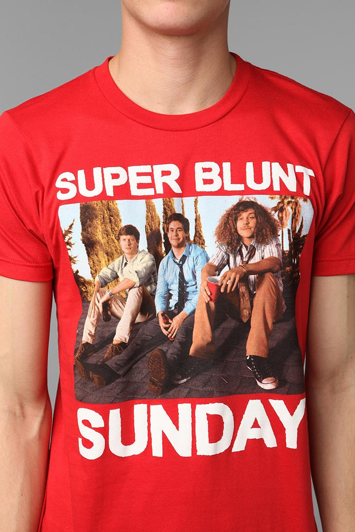 best images about workaholics mens tees cat overview soft cotton tee workaholics super blunt sunday graphic measurements model is and wearing size medium measurements taken from size