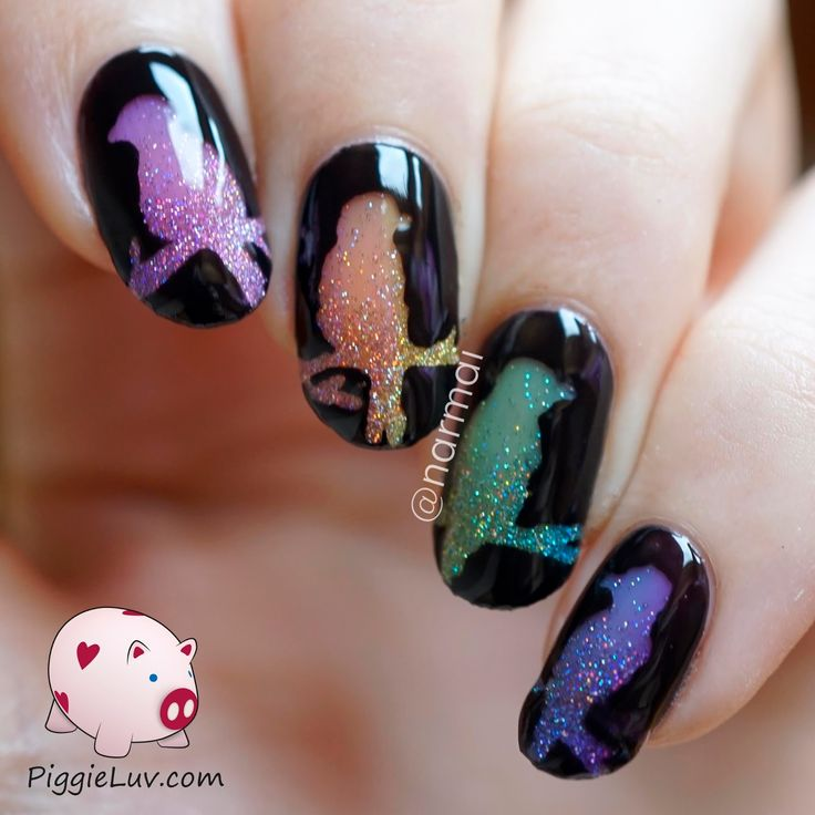 Piggieluv Rainbow Bubbles Nail Art: 61 Best Images About Glow In The Dark Wedding On Pinterest