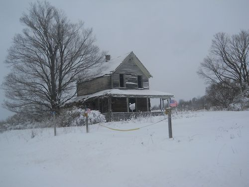 Abandoned House On M 28 In The Upper Peninsula Of Michigan