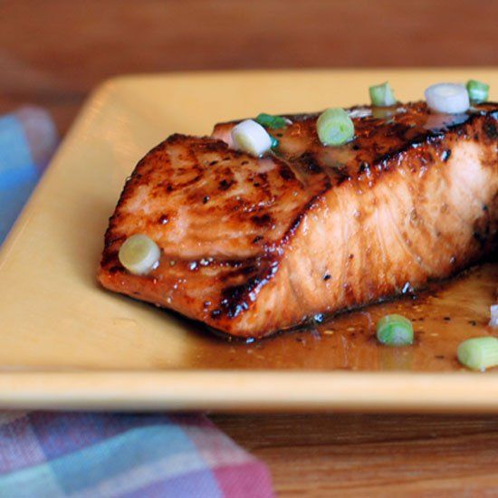 Bourbon, maple syrup, Dijon mustard and balsamic vinegar join forces to create the tastiest salmon for the holidays.