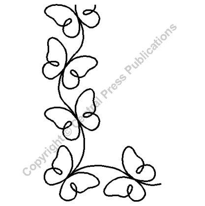 Butterflies - Continuous Line Quilting Stencils