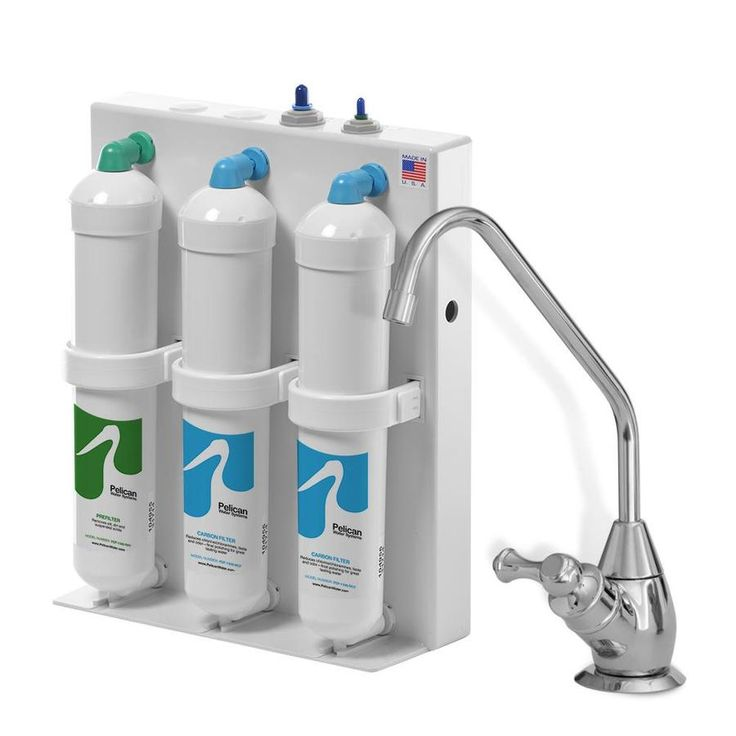 Pelican Water Under Counter Filter System Triple Stage Gac Under Sink Water Filtration System Lws Pdf 1500 Pc In 2020 Drinking Water Filter Water Filtration System Water Filter