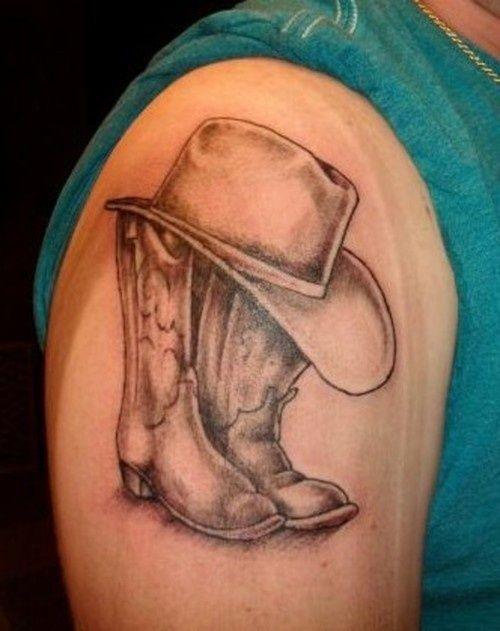 Je pense que ce serait une belle façon de se souvenir de mon père. Chapeau de cow-boy et des bottes. Ne …   – tattoos