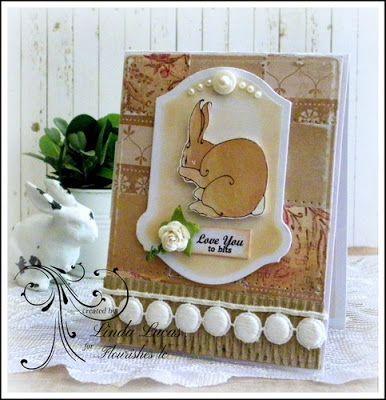 Lovely Linda's Craft Central!!: Flourishes lc - Love you to Bits @flourisheslccom @spellbinders @imaginecrafts @SBAdhesivesby3L @want2scrapco #thanksabushel #diy #handmade #paperart #whimsical #lovelylinda #liindalucas #rabbit #bunny #patchwork