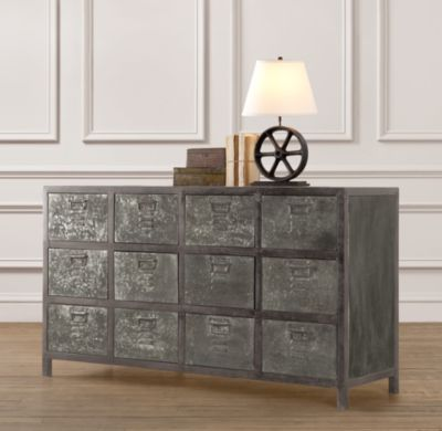 Vintage Locker Wide Dresser | Dressers | Restoration Hardware Baby & Child.  Great piece for a TV