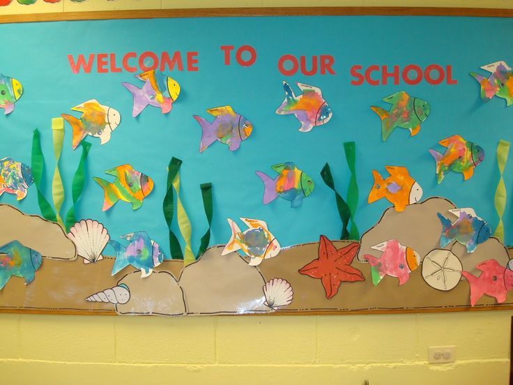 preschool bulletin board | Trinity Preschool MP: Welcome to our school Fish Bulletin Board