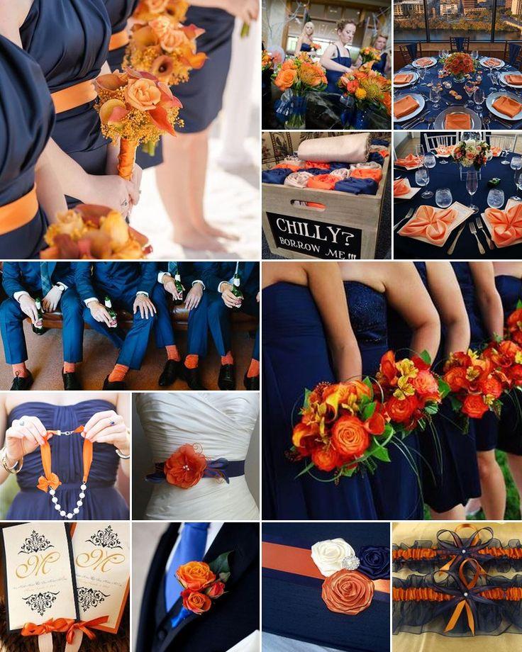 burnt-orange-and-navy-weddings