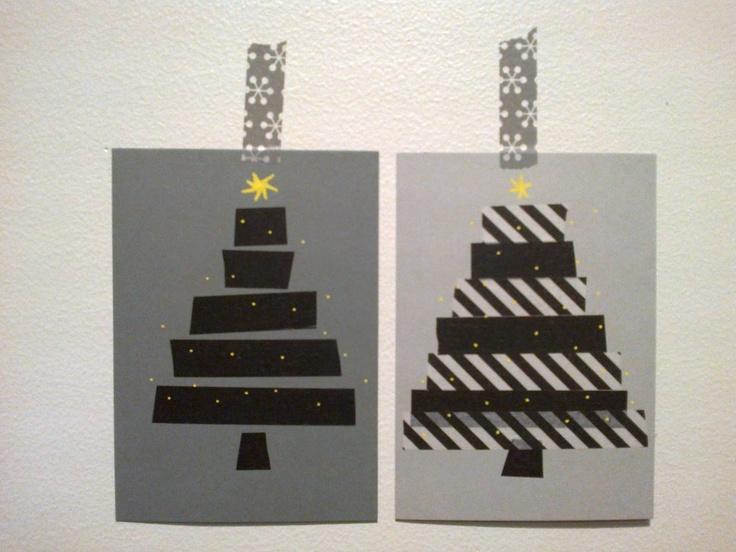 Christhas cards:  Washi-tape and DecoPen    locker301-320.blogspot.com