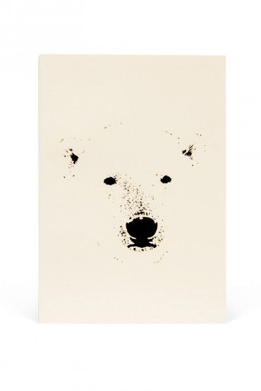 Polar Bear Notebook / soy ink on recycled paper