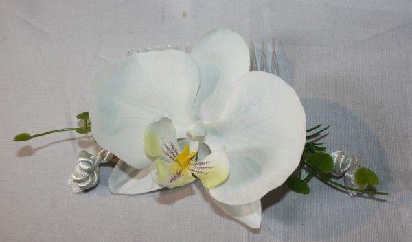 Haarkamm orchidee modern