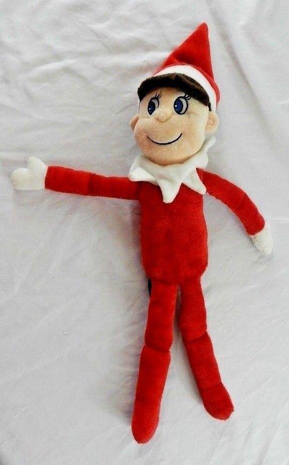 Elf On A Shelf Cca B Stuffed Plush Boy Brown Hair Blue Eyes 14