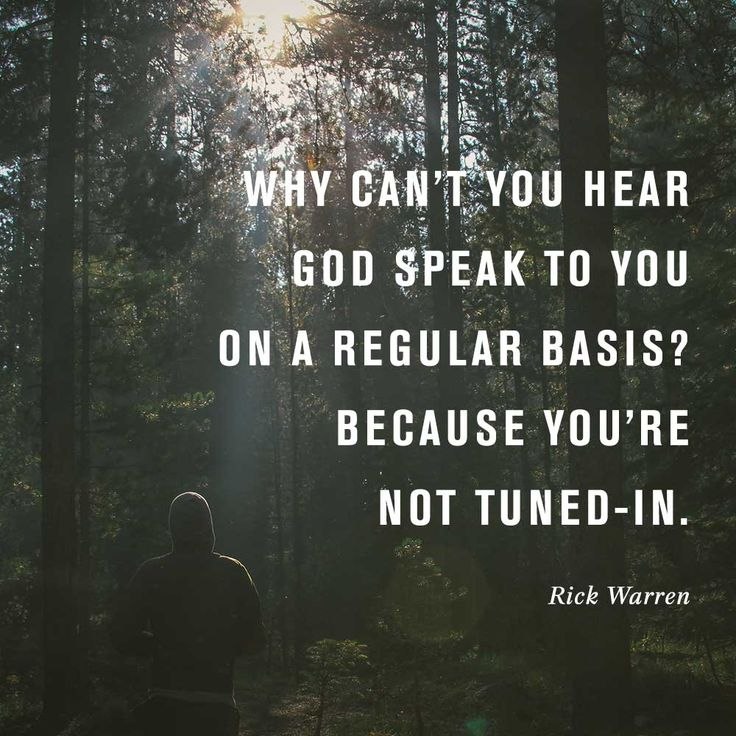 Why cant you hear god speak to you on a regular basis