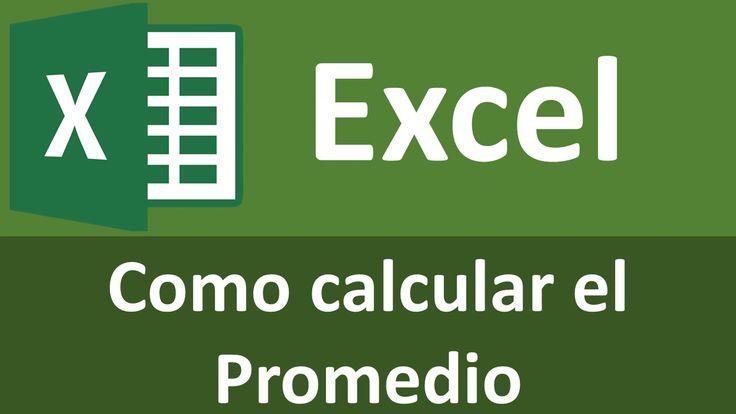 Como calcular el promedio en Excel 2010, 2013, 2016