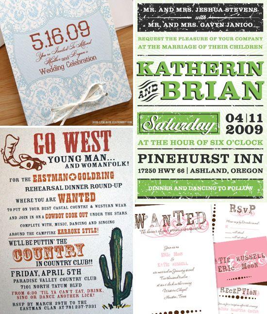 Western Themed Wedding Invitations