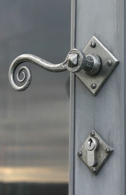 Door Handles monkey tail design in pewter patina finish from Priors Period Ironmongery.  & 53 best Door Handles images on Pinterest | Door handles Brass ... pezcame.com