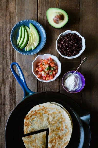 Bean and Cheese Quesadillas from la pomme de portland