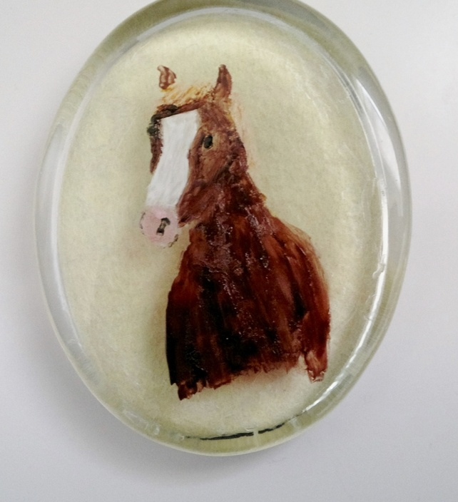 Paperweight with a hand painted Horse £12.00