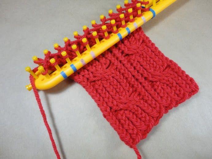 Rectangular looms techniques and basic points crochet - Como hacer una bufanda de lana gorda ...