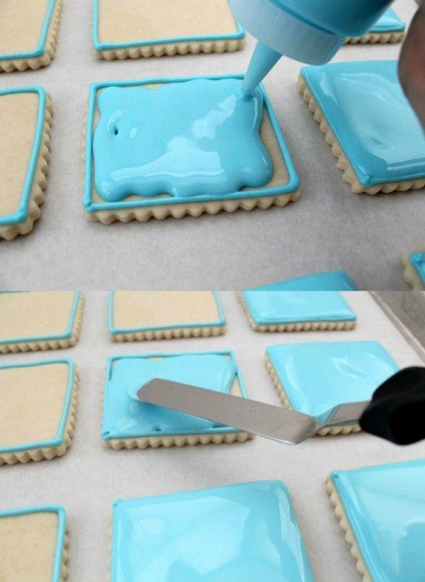 Como confeitar biscoito com glace real                                                                                                                                                      Mais