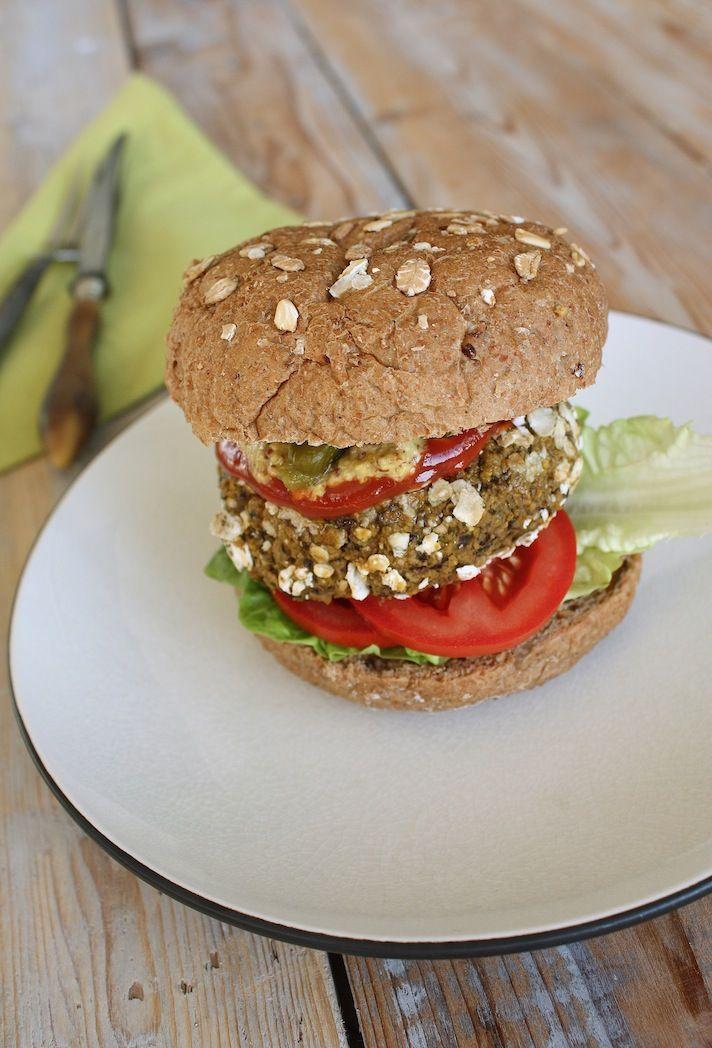 Black bean burger with pumpkin | Zwarte bonen burger met pompoen | Recipe on www.francescakookt.nl