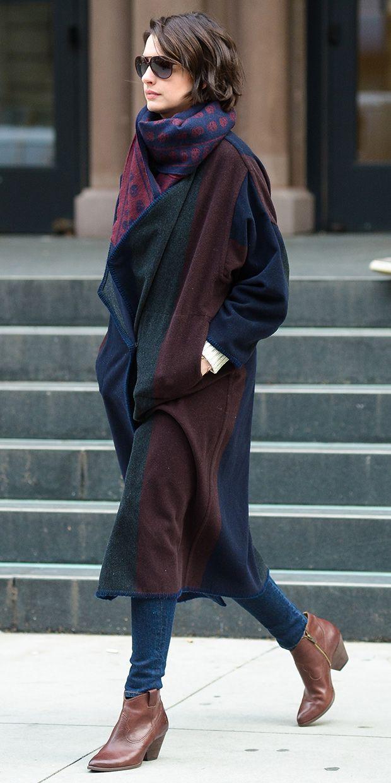 Found It: Anne Hathaway's Luxe Blanket Coat via @WhoWhatWear