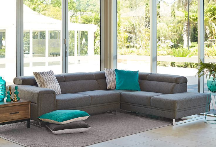 Modular and Chaise : Atessa 4 Seater RHF Modular Perth, Western Australia - Furniture Bazaar