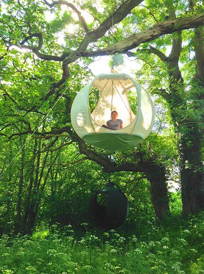 Camp out in the trees in style with this handcrafted tent for the forest.