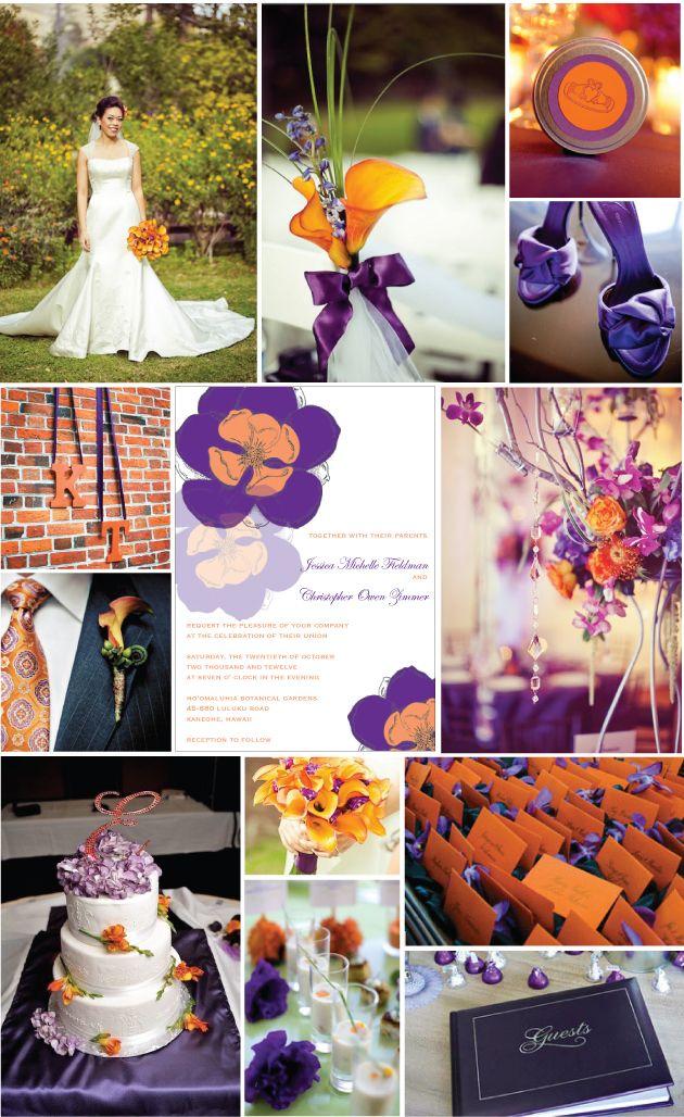 Lotus Εκτυπώσεις Γάμος Blog Έμπνευση Διοικητικού Συμβουλίου την Παρασκευή Μωβ Πορτοκαλί
