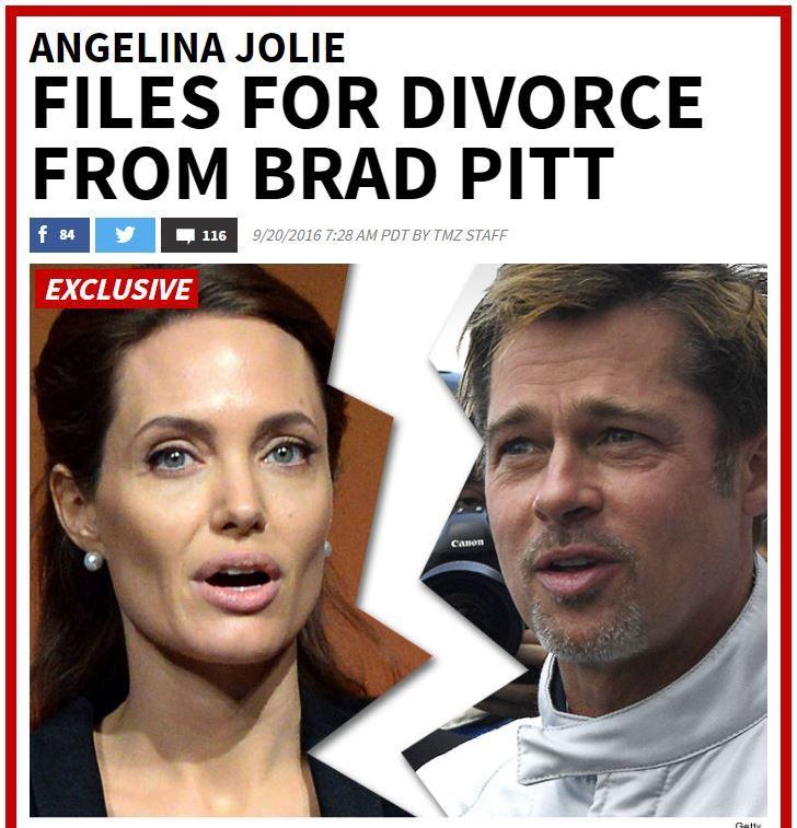 Η Angelina Jolie τα πήρε και ζήτησε Divorce ~ Ardan News