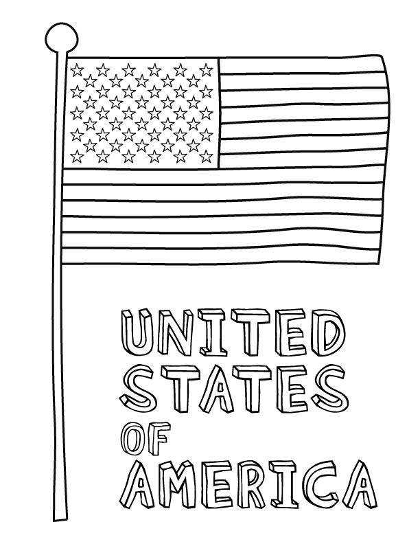 American Flag Coloring Page and other fun holiday and seasonal coloring pages. Download these free simple printable coloring pages. Each printable coloring page is available for your own personal use courtesy of Make and Takes.
