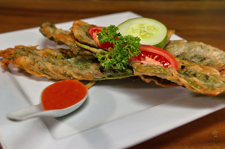 Delicious fried spinach in #Bali