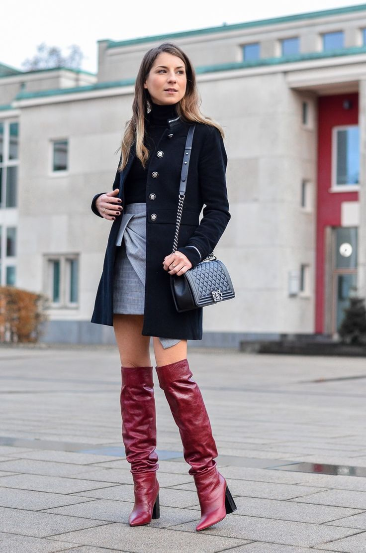 jacke military stil rock zara red boots outfit blog