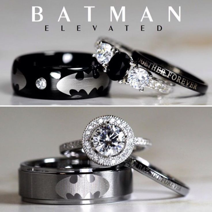 """""""If you've finally found the Selina Kyle to your Bruce Wayne and you're ready to tie the knot, then you'll want to do so in style. Thanks to Etsy seller…"""""""