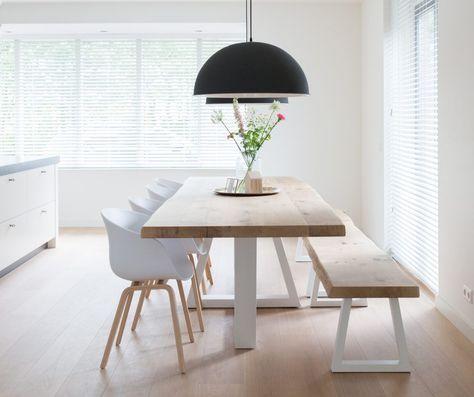 Meer dan 1000 idee n over eettafel decoraties op pinterest eettafels kleine eetkamer en decoratie - Idee decoratie eetkamer ...