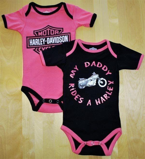 Harley-Davidson® Boys MY DADDY RIDES A HARLEY One-piece Creeper 2-pc Set 1153042