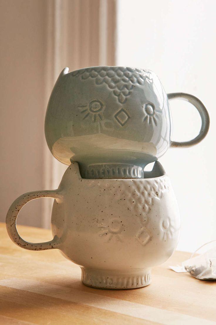 Assembly Home Ceramic Snow Owl Mug - Urban Outfitters