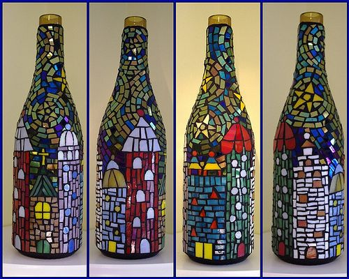 101 best images about mosaics on recycled bottles on pinterest for How to cut the bottom of a glass bottle