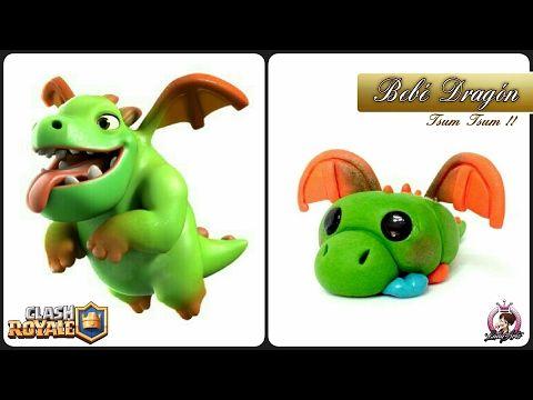 Baby Dragon | Clash Royale | Polymer Clay Tutorial - YouTube